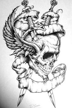 Affliction clothes on - DIY tattoo images - Affliction clothes . - Break up clothes – DIY tattoo pictures – Affliction clothes - Tattoo Design Drawings, Skull Tattoo Design, Tattoo Sketches, Tattoo Designs, Skull Drawings, Drawing Sketches, Drawing Ideas, Body Art Tattoos, Sleeve Tattoos