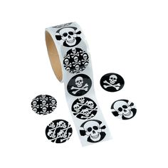 $2.55 (121 MKD) for 100 ($0.03 each) Skull Stickers - OrientalTrading.com