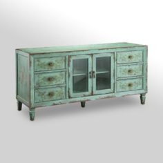 60 in. Media Console with Drawers - Vintage Blue  $650...Oh this is it! I want I want I want!!!!