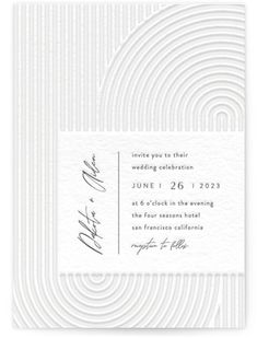 Modern, Grey, Beige Wedding Invitations From Minted By Independent Artist Four Wet Feet Studio. Art Deco Wedding Invitations, Letterpress Wedding Invitations, Letterpress Save The Dates, Save The Date Wording, Wedding Stuff, Wedding Ideas, Beige Wedding, Bridesmaid Cards, Reception Card