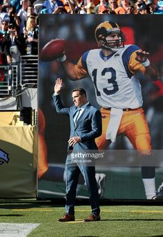 Super Bowl XXXIV MVP Kurt Warner of the St Louis Rams looks on during. 4e6a63189