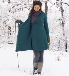 ORGANIC Hooded Wrap Short Fleece Dress by gaiaconceptions on Etsy