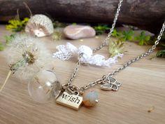 Dandelion wish necklace dandelion globe pendant by KandyDisenos