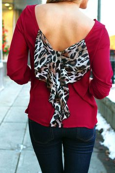 A maroon/red with leopard...lord how can this get any better!!