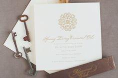 Mary + Martin Custom Letterpress - Corporate Invitation