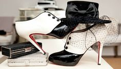 Love these Black and White Shoe Boots and the Hat! White Shoe Boots, Black And White Shoes, Tap Shoes, Me Too Shoes, Dance Shoes, Sparkly Clutches, Tuxedo Shoes, Ballet, Shoe Closet