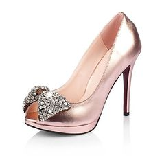 d3a9647adf13 Real Leather Stiletto Heel Peep Toe Pumps Party   Evening Shoes With  Rhinestone