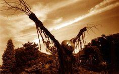 evil scarecrow | Scarecrow with evil-looking pumpkin head. ... | {Halloween} Howls