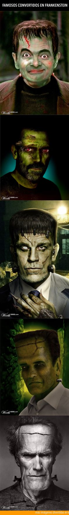 Famosos convertidos en Frankenstein.
