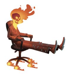 Mike Bear: Sketchbook ghost rider on office chair Comic Book Characters, Comic Character, Comic Books Art, Character Concept, Comic Art, Concept Art, Ghost Rider, Illustrations, Illustration Art