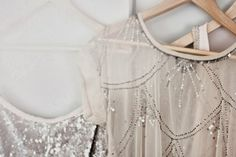 sequins in pale shades//