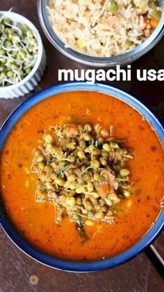 mugachi usal recipe | sprouted moong dal curry | spicy moong sprout sabzi with detailed photo and video recipe. healthy and spiciest curry recipes made with moong sprout and a blend of spices in an onion and tomato-based gravy. it is typically made in western india, particularly in marathi cuisine and is known for usage of goda masala. it is an ideal curry recipe that can be served with a choice of indian flatbread but can also be served with rice and jeera rice.
