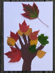 Leuk als herfst thema. Buiten herfst blaadjes verzamelen en vervolgens laten… Seasons Activities, Autumn Activities, Winter Crafts For Kids, Autumn Crafts, Toddler Crafts, Kids Crafts, Leaf Crafts, Painting For Kids, Art For Kids