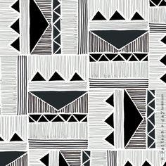 black & white etnic pattern