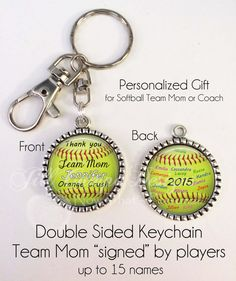 Hey, I found this really awesome Etsy listing at https://www.etsy.com/listing/235660337/personalized-softball-key-chain-gift-for