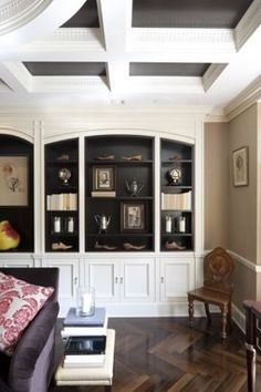 Ceiling Details & two tone built-ins <3  http://bjdhausdesign.blogspot.com/2012/07/its-all-in-details.html?utm_source=feedburner_medium=email_campaign=Feed%3A+HausDesign+%28Haus+Design%29#