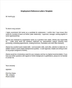 Free Sample Example Format Premium Templates Reference Letter