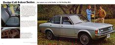 Carsthatnevermadeitetc — Dodge Colt brochure, 1975. A captive import AKA... Mitsubishi Colt, Mitsubishi Galant, Car Brochure, Old Cars, Dodge, Brochures, Ads