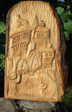 Woodcarving The old boats by WoodAlive on Etsy, $67.00