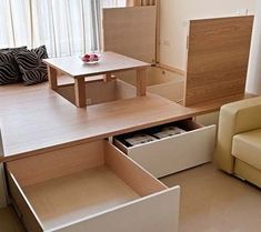 кровать-подиум с ящиками
