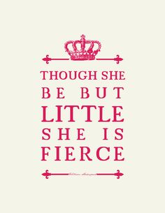 Shakespeare Quote : Girl's Room Nursery Art  // Unique Baby Gift. $16.00, via Etsy. SO CUTE