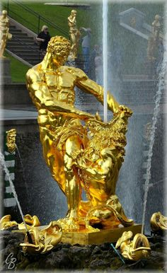 Samson Fountain, Peterhof Palace, St. Petersburg, Russia