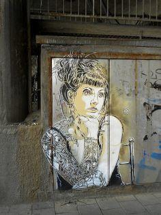 Street artist C215´s work in Oslo