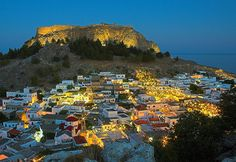 Lindos by night. Worked here in 2011 for 6 months. Gorgeous place!