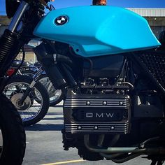 Baby blue BMW. Another eye catching colour choice at the #rideonbikeshow #BMW #scrambler #Perth #westernaustralia #custombike #motorcycle