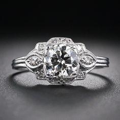 .88 Carat Diamond and Platinum Vintage Engagement Ring - 10-1-5503 - Lang Antiques