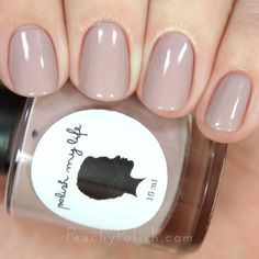 Polish My Life Tahoe | Classic Cremes Collection Winter Edition | Peachy Polish