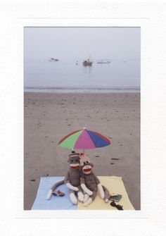 Beach Umbrella by sockmonkeycards on Etsy, $3.50