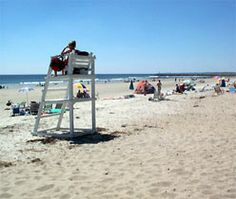 I drank a bottle of champagne with my boyfriend (now husband) on this lifeguard chair.  The rest is history. :)