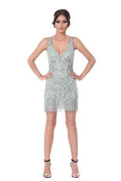 Onix- Vestido curto de alça com renda e bordados. Decote na frente e nas costas #glam #fashion #cool #ootd #cute #style #trends #aboutalook