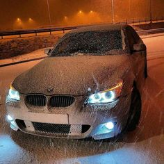 BMW E60 5 series snow
