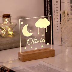 Callie Personalized Name Night Light for Children Diy Birthday Gifts For Dad, Gifts For Kids, Plexus Products, Special Gifts, Diy Gifts, Projects To Try, Place Card Holders, Kids Room, Children