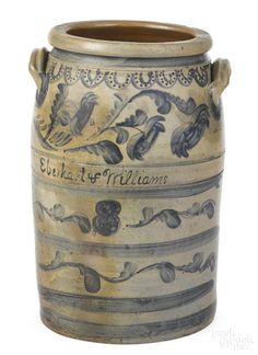 Rare Pennsylvania eight-gallon stoneware crock - Price Estimate: $3000 - $5000