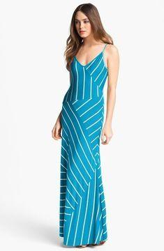 Calvin Klein Stripe Jersey Maxi Dress on