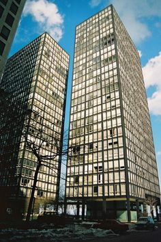 レークショアドライヴ Lake Shore Drive Apartment (1951) Mies v.d. Rohe / Chicago USA No.2/13 : 近代建築ゼミ Modern Architecture