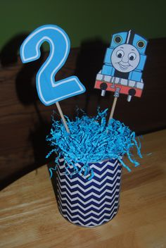 thomas the train centerpieces - Google Search