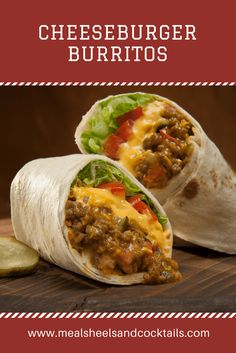 These Cheeseburger Burritos couldn't be easier and are sure to become one of your go to's for and easy and delicious weeknight dinner.  Fusion at it's finest, this easy dinner combines two all-time favorites, cheeseburgers and burritos.   Best of all it's on the table in just 20 minutes and there's only one pan to clean up. Win-win!