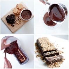 Κορμός ψυγείου με 3 υλικά Chocolate Fondue, Brownies, Sweets, Nutella, Desserts, Coffee, Food, Cakes, Sweet Pastries