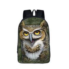 Owl Backpack for Teenager Girls Boys Children School Bags Animal Printing Backpack Laptop bolso mochila mujer Men Travel Bags