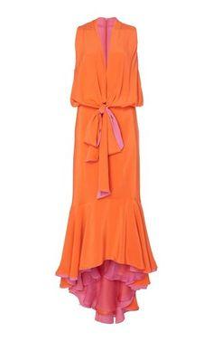 Blend of America Silvia Tcherassi Frid Asymmetrical Hem Silk Dress Funky Dresses, Day Dresses, Dress Outfits, Fashion Dresses, Summer Dresses, Buy Dress, Dress Skirt, Dress Up, Silk Dress