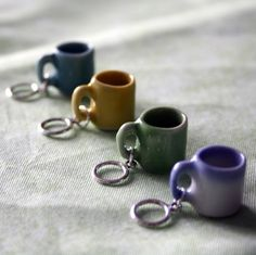 They say these are stitch markers, but I think they would make great jewelry pieces too! Great for a coffee lover.