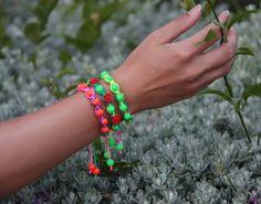 Macrame and beads boho bracelets Shamballa by NevelynkaNasha, $24.00