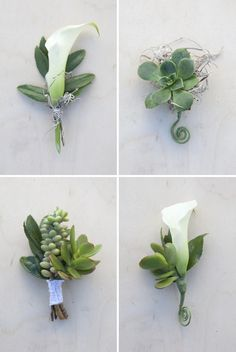 Isn't this bouquet beautifully earthy!?! This year we have seen a lot of white and green combinations and this is one of my favorites. I absolutely LOVE succulents… I have more than 10 ...