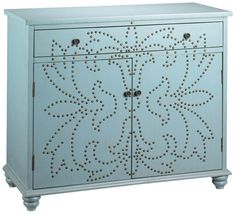 Branly Cabinet Blue by Home Decorators Collection Ikea Furniture Hacks, Unique Furniture, Furniture Makeover, Painted Furniture, Living Room Furniture, Home Furniture, Furniture Ideas, Metallic Dresser, Blue Dresser