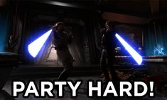 star wars party hard gif Imgur lightsaber Obi-Wan Kenobi and Anakin Skywalker set aside their differences, in pursuit of a greater purpose