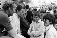 George Harrison with Colin Chapman, Graham Hill and Keith Greene, Monaco Grand Prix, Monte Carlo, 22 May 1966 Photo: Phipps/Sutton Images/Corbis